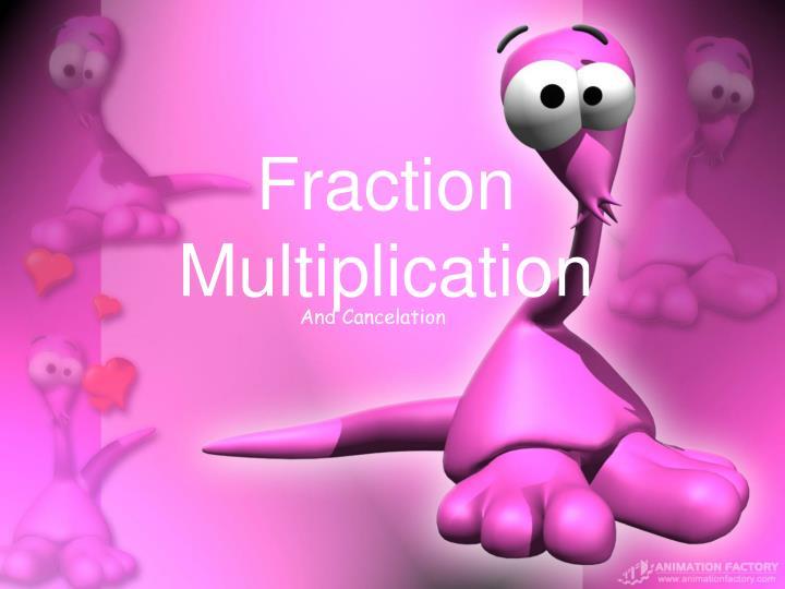 fraction multiplication n.