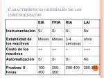 caracter sticas generales de los inmunoensayos