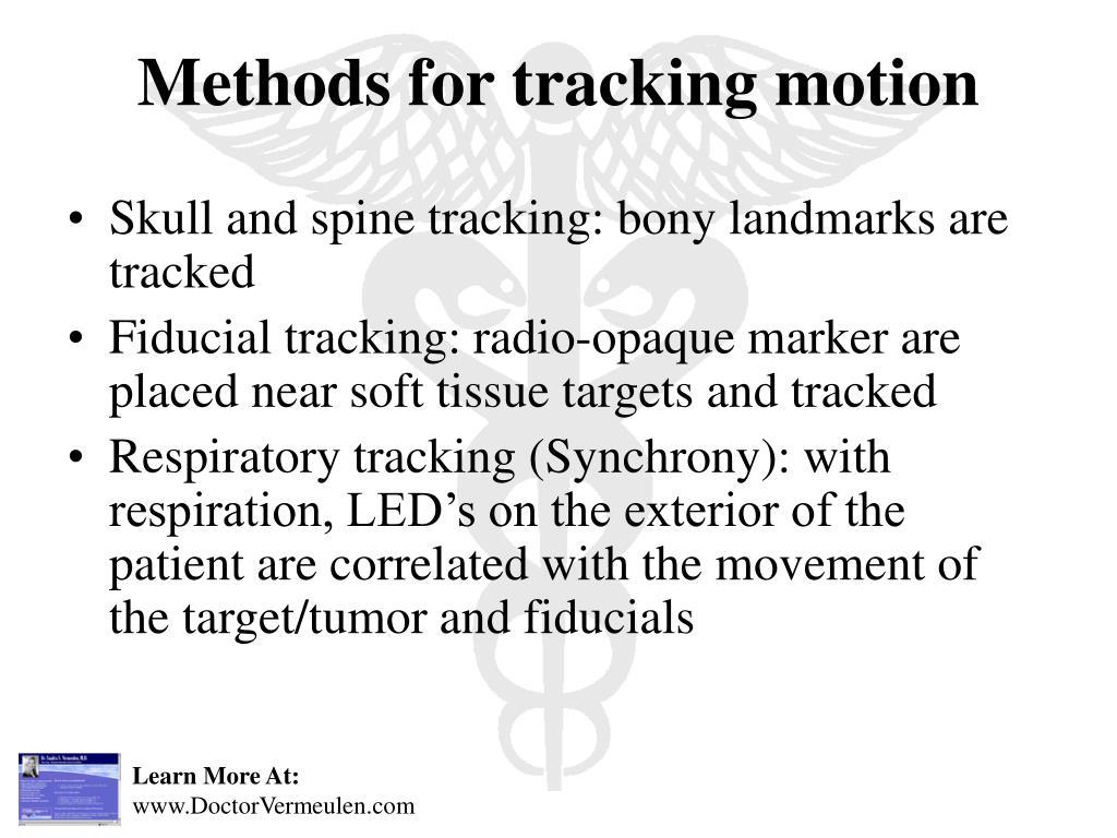Skull and spine tracking: bony landmarks are tracked