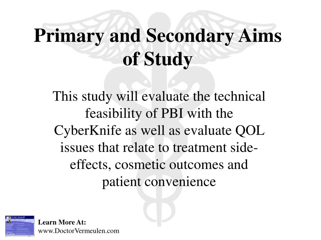 Primary and Secondary Aims of Study