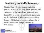 seattle cyberknife summary