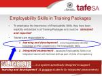 employability skills in training packages