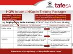 how to use linkup in training packages