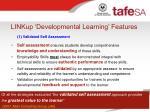 linkup developmental learning features