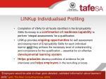 linkup individualised profiling21