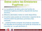 datos sobre las emisiones fugitivas cont