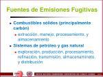 fuentes de emisiones fugitivas