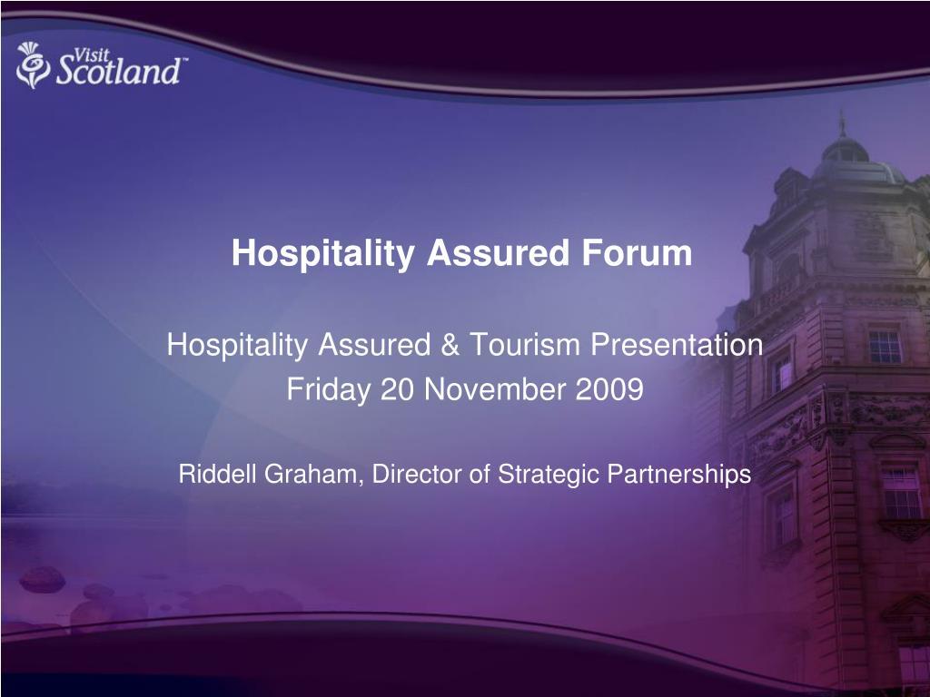hospitality assured forum l.