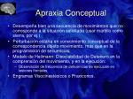 apraxia conceptual