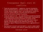 conseguenze degli stati di conflitto