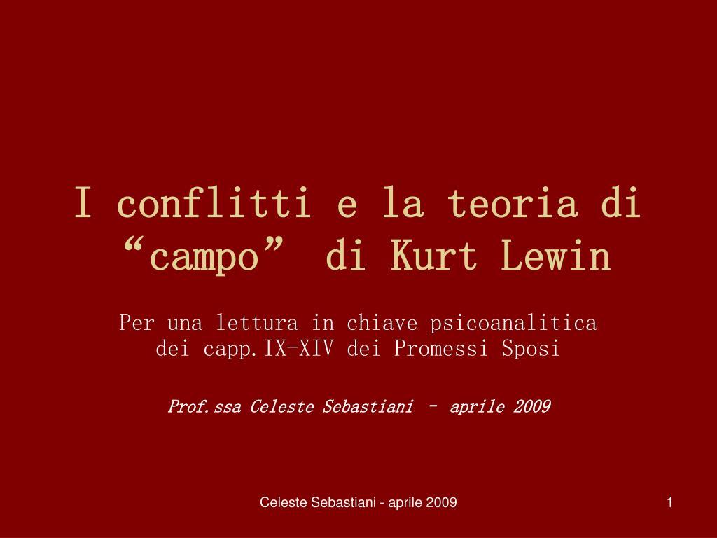 i conflitti e la teoria di campo di kurt lewin l.