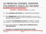 le medecin conseil dispose d elements issus du patient