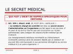 le secret medical70