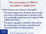 the information in dna is encoded in digital form