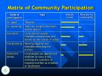 matrix of community participation