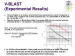v blast experimental results