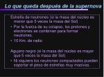 lo que queda despu s de la supernova