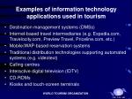 examples of information technology applications used in tourism15