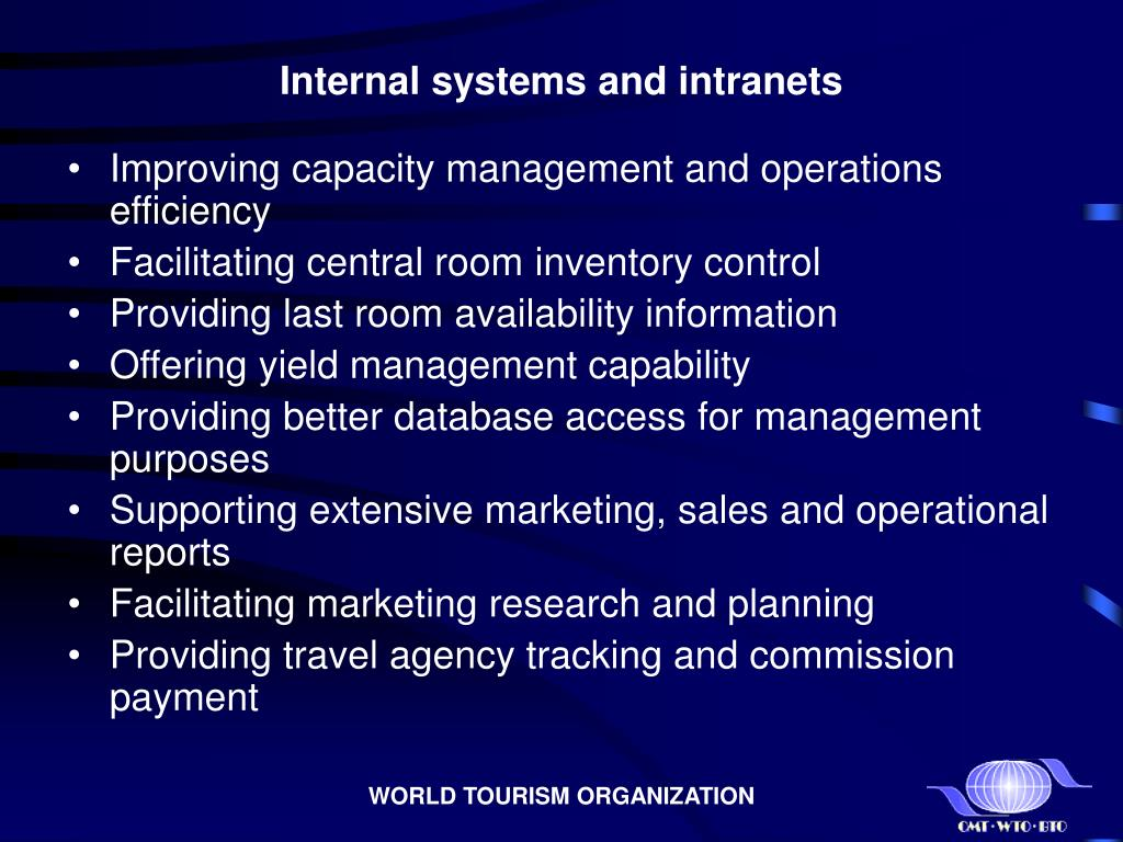 Internal systems and intranets