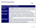 benefits categorisation jw