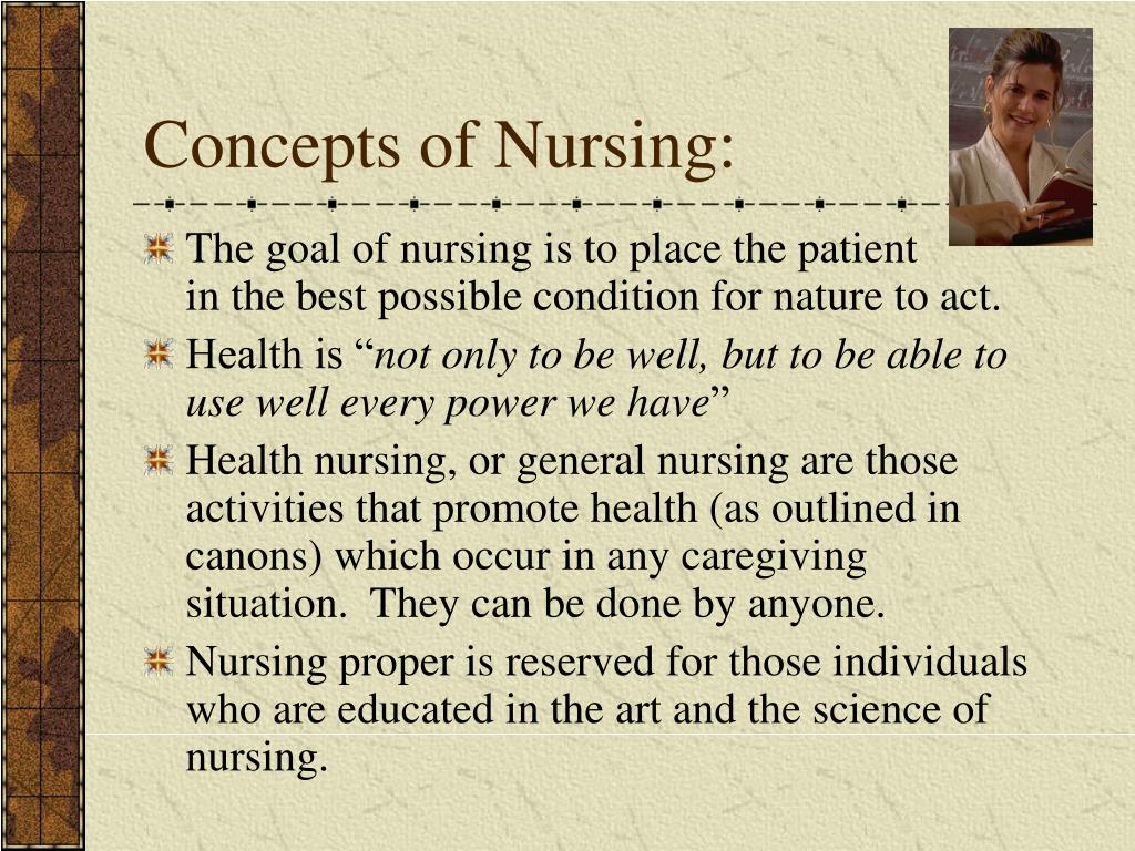 the nightengale theory of nursing This led me to reflect upon the life of florence nightingale and nursing school about florence nightingale and her theory, thereby honoring the nursing.