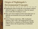 origin of nightingale s environmental concepts