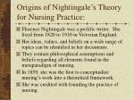 origins of nightingale s theory for nursing practice