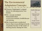 the environmental adaptation concepts