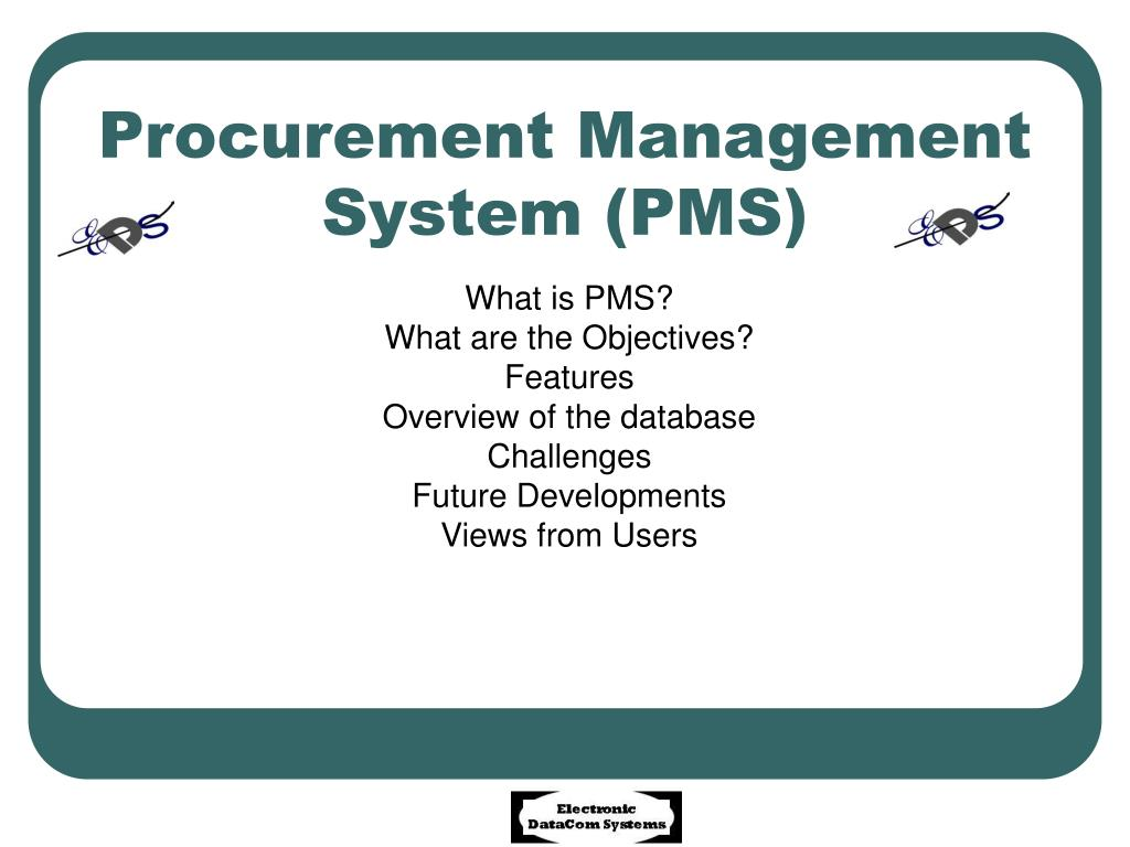 procurement management system pms l.