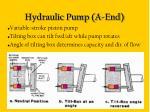 hydraulic pump a end10