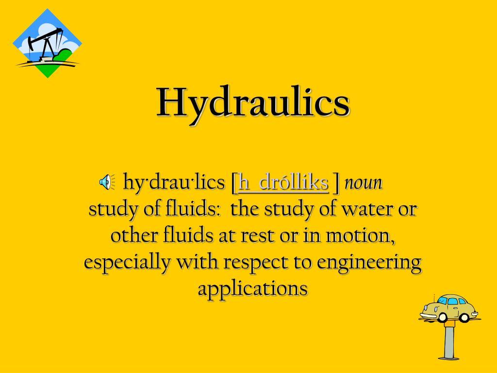 hydraulics l.