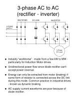3 phase ac to ac rectifier inverter