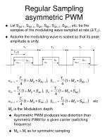 regular sampling asymmetric pwm