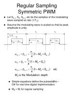 regular sampling symmetric pwm