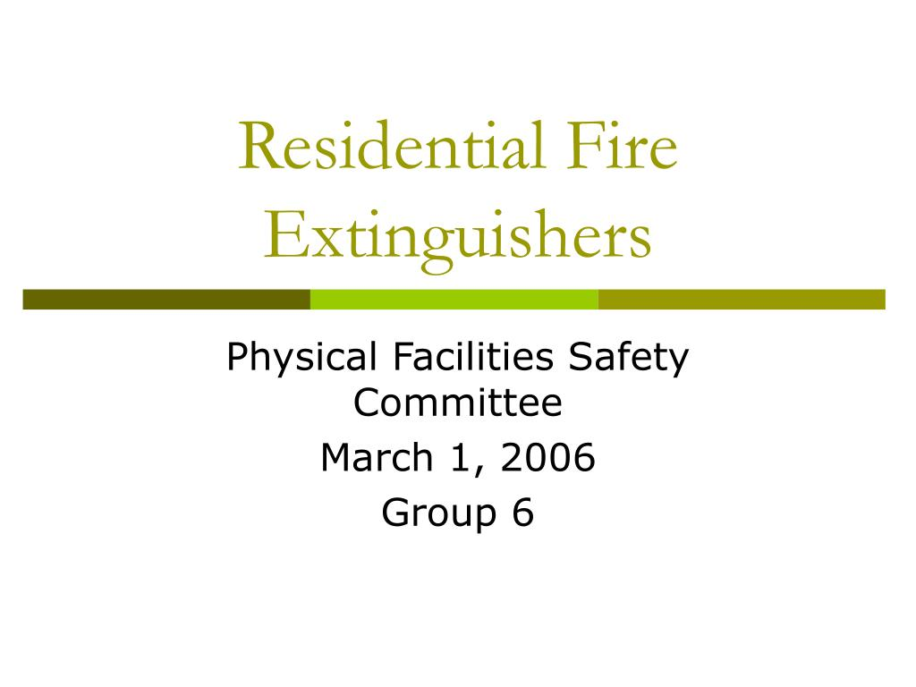 residential fire extinguishers l.