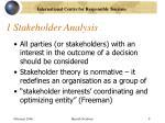 1 stakeholder analysis