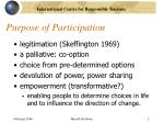 purpose of participation