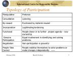 typology of participation