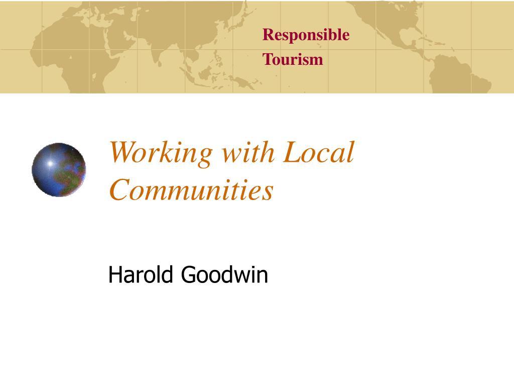 working with local communities l.