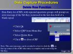 data capture procedures delete row function