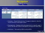 navigation task tabs