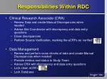 responsibilities within rdc8