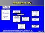 workflow in rdc