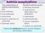 asthma complications