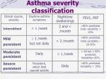 asthma severity classification