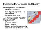 improving performance and quality