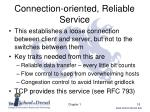 connection oriented reliable service