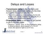 delays and losses3
