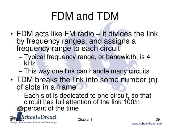 FDM and TDM