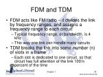 fdm and tdm